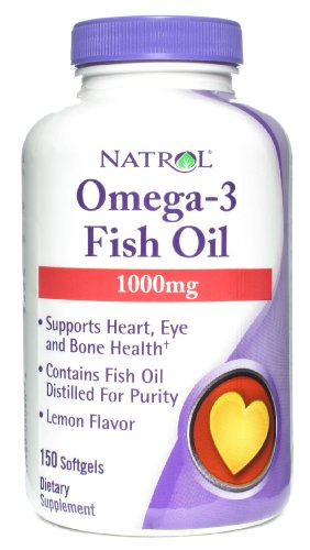 Natrol: Omega 3 Fish Oil 1000 Mg, 150 Sgels (12 Pack)