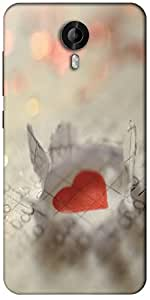 Snoogg Paper Heart Designer Protective Back Case Cover For Micromax Canvas Nitro 3 E455
