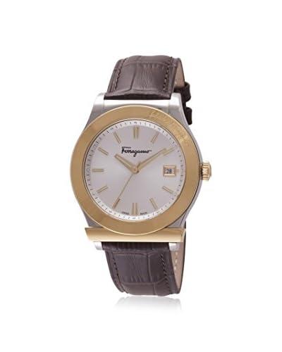 Salvatore Ferragamo Men's FF3920015 Brown/Silver Leather Calfskin Watch