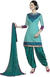 TFW Salwar Kameez UnStitched Chanderi Cotton Dress Material