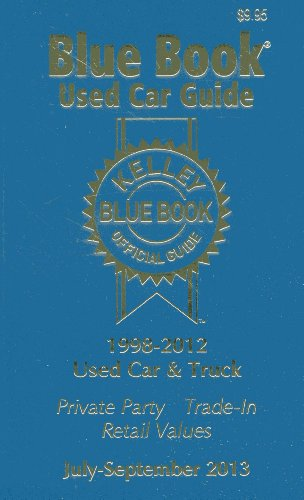Kelley Blue Book Used Car Guide, July - Sept 2013