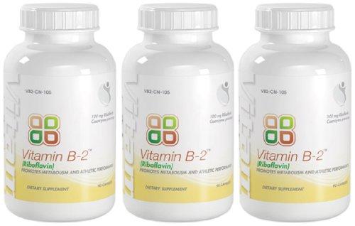 Bionutricals UK Vitamin B-2 Metabolism And Athletic Performance Vitamin B-2 100mg 270 Total Capsules 3 Bottles