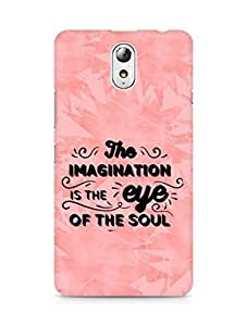 Amez The Imagination is the Eye of the Soul Back Cover For Lenovo Vibe P1M