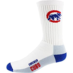 MLB Chicago Cubs Mens Crew Socks, Large by For Bare Feet