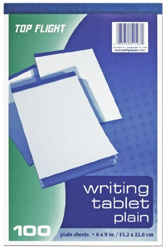 Top Flight Writing Tablet Unruled White 100 Sheets 4701024