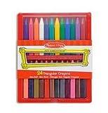 Melissa & Doug Triangular Crayons - 24 pack, toxic, wax, kids, crayons, colors, toys, crayolas, art