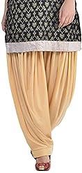 Sohniye Womens Viscose Patiala [GAKP10_Beige_Free Size]