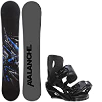Avalanche Source 158 Mens Snowboard + Sapient Wisdom Bindings - Fits Boot Sizes: 8,9,10,11 from Avalanche