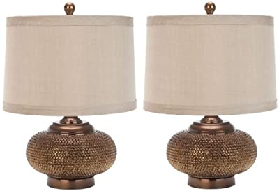 Safavieh Lighting Collection Alexis Gold Bead 19-inch Table Lamp (Set of 2)
