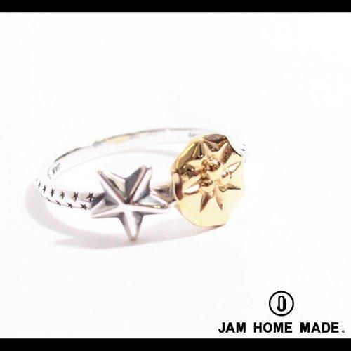 【JAM HOME MADE(ジャムホームメイド)】Disney×JAM HOME MADE STAR MICKEY RING リング 17号サイズsmoke mirror finish