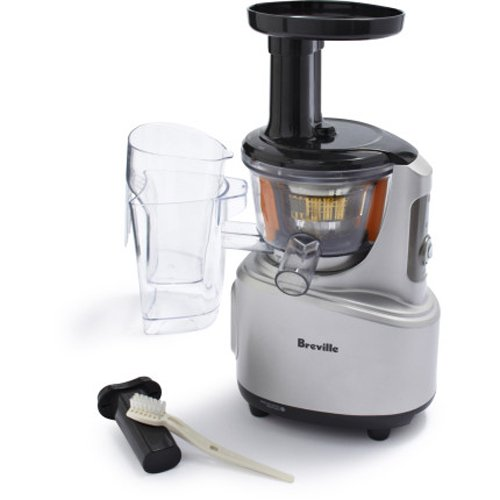 Slow Juicer Juicer : Breville BJS600XL Fountain Crush Masticating Slow Juicer