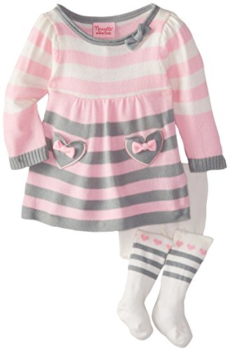 Nannette Baby-Boys Newborn 2 Piece Dress Set with Tights
