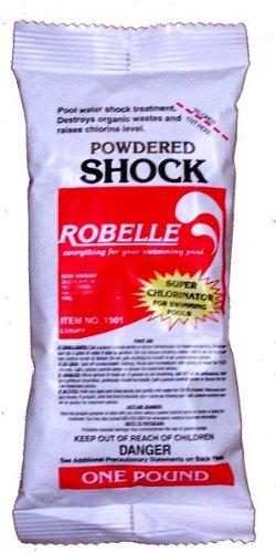 Robelle 68% Calcium Hypochlorite Powdered Chlorine Shock For Swimming Pool 48X1 Lb Bags