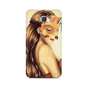 MOBICTURE Girl Abstract Premium Designer Mobile Back Case Cover For Samsung J1 2016 Version