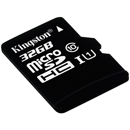 Kingston SDC10G2/32GB - Tarjeta microSD de 32GB (clase 10 UHS-I 45MB/s) con adaptador SD