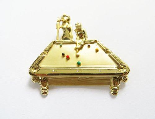 Danecraft Gold - Plated Billiards Pin Brooch