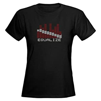 Equalizer Dive Flag Women's Dark T-Shirt by CafePress - S Black [Apparel]