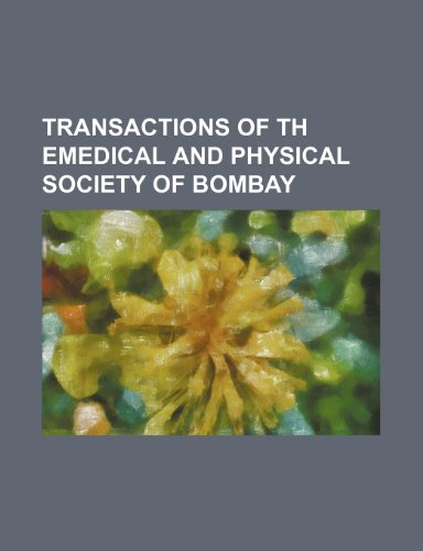 transactions of th emedical and physical society of bombay