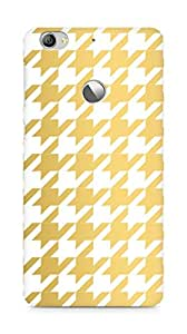 AMEZ designer printed 3d premium high quality back case cover for LeEco Letv Le 1S (gold white pattern)