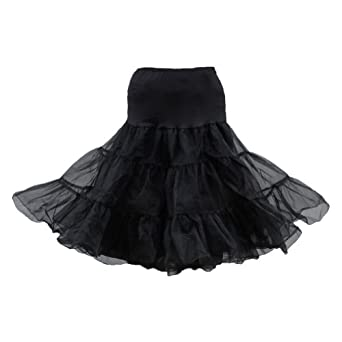 Women 2 Layer Swing Underskirt Rockabilly Dance Petticoat Knee Length