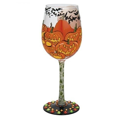 Lolita Pumpkin Patch Halloween Wine Glass