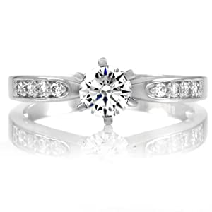 Daisy's Fake Engagement Ring - CZ Diamond Size 6