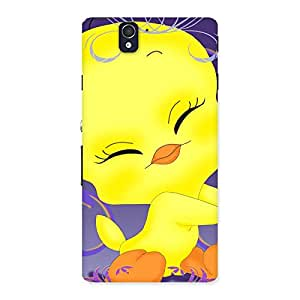 Impressive Yellow Tweet Back Case Cover for Sony Xperia Z