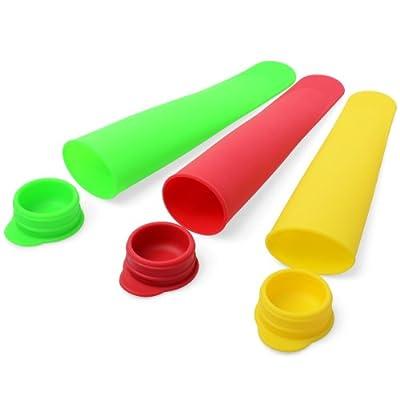 Xcellent Global (3 Pack) Silicone Ice Popsicle Maker / Mold Set Random Color M-HG014