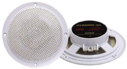 Pyramid Mdc6 5.25-Inch Marine 100 Watts Dual Cone Waterproof Stereo Speakers