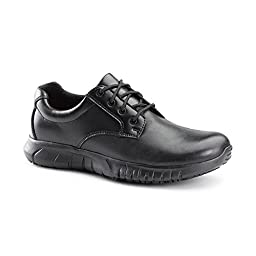 Keuka SureGrip Mens Saloon Black Casual Slip Resistant Work Shoes 10M