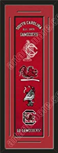 Heritage Banner Of South Carolina Gamecocks With Team Color Double Matting-Framed... by Art and More, Davenport, IA