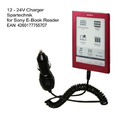 Spartechnik Autoladekabel für SONY eBook Reader PRS-505, PRS-500, PRS-600 Touch, 12V - 24Volt KFZ Autolader für elektronisches Buch