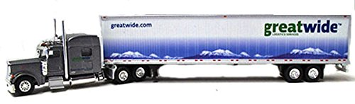 GREAT WIDE LOGISTICS PETERBILT 389 Sleeper Trailer TONKIN 1/87 Diecast Truck HO Scale (Tonkin Trailers compare prices)