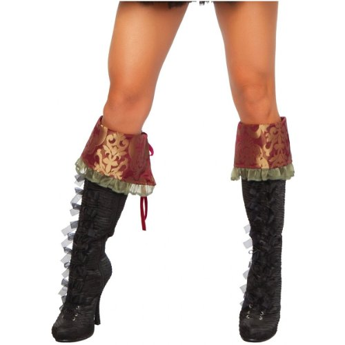 Tea Party Hatter Boot Cuffs Costume Accessory