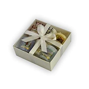 Yankee Candle Samplers - Gift Wrapped with White Satin Ribbon