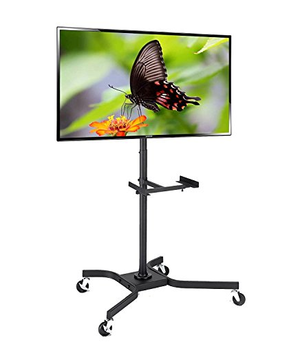 Elitech Steel Mobile LCD TV Cart Stand for up to 46