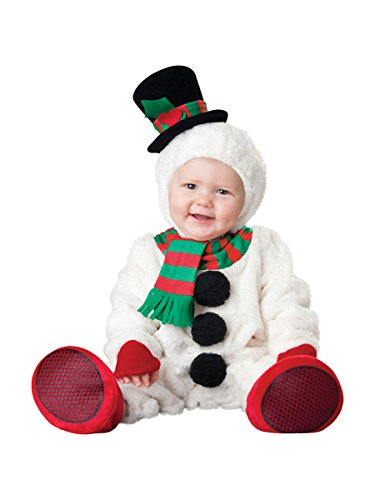 InCharacter Costumes Baby's Silly Snowman Costume, White/Red/Black/Red, Small (6 Months-2 Years)