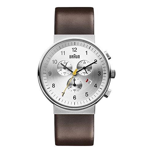 Braun Men's BN0035SLBRG Classic Chronograph Analog Display Japanese Quartz Brown Watch (Braun Quartz Watch compare prices)