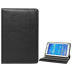 DMG Universal 360 Swivel Stand Book Cover Case for Digiflip Pro Xt 712 Tablet (Black)