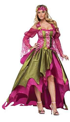 Funworld Womens Fairy Queen Renaissance Gown Corset Fancy Halloween Costume