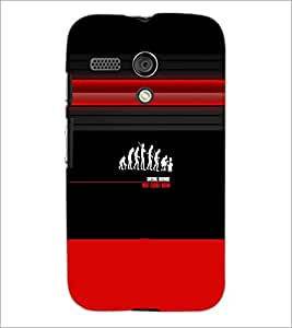 PrintDhaba Evolution D-2996 Back Case Cover for MOTOROLA MOTO G (Multi-Coloured)
