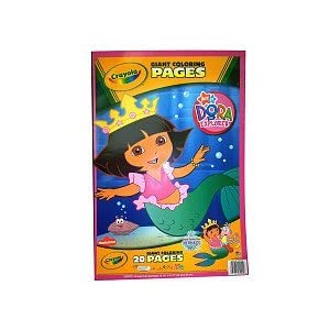Crayola Coloring Sheets On Amazon Com Giant Pages Dora The Explorer Toys