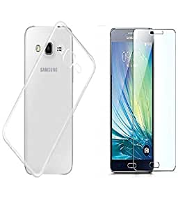 CLASSICO Crystal Clear Soft Transparent Back Cover + Tempered Glass Combo For Samsung Galaxy Note 3 N9000