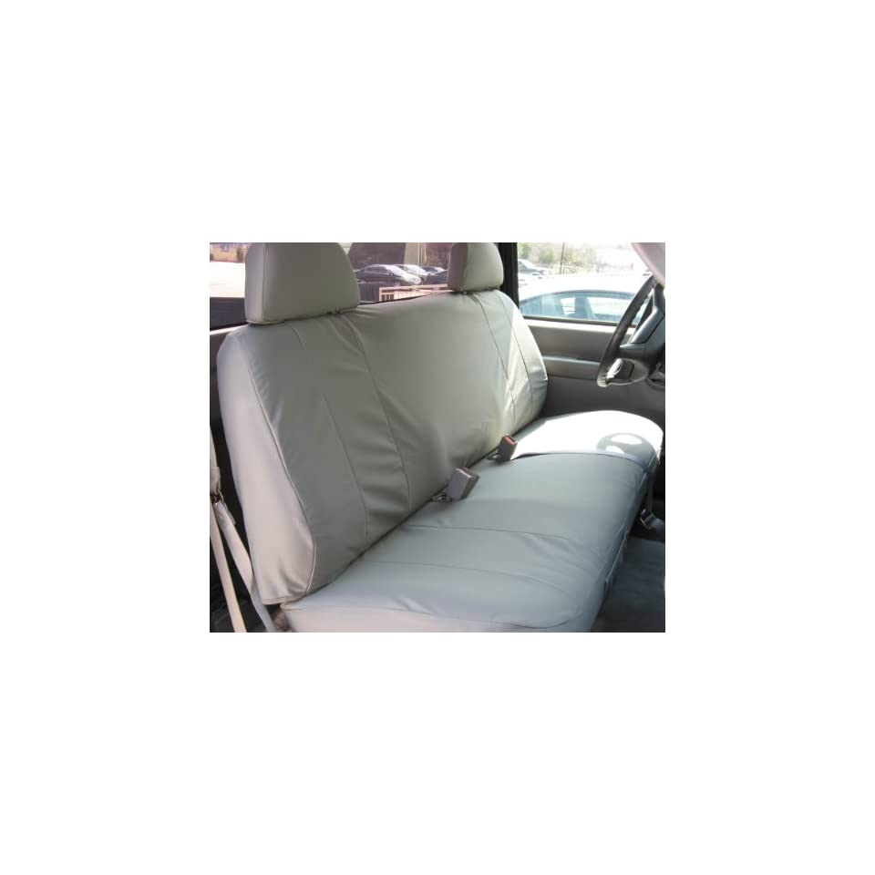 Exact Seat Covers, C972 X7, 1995 2000 Chevy Silverado and GMC Sierra Solid Bench Seat Exact Fit Seat Covers, Gray Twill Automotive