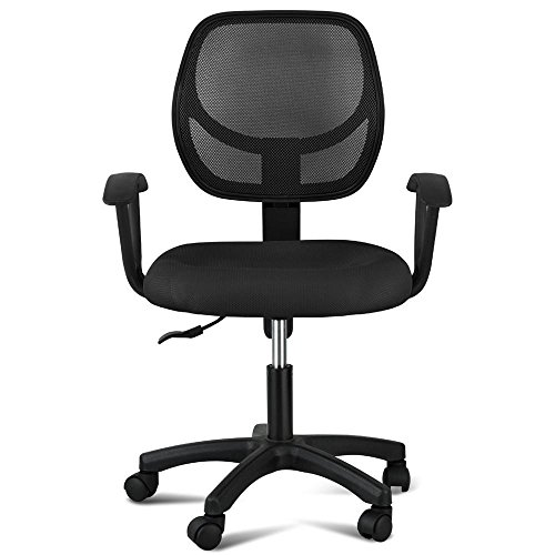 adjustable-swivel-computer-desk-chair-fabric-mesh-office-chair-with-arms-seating-back-rest-black