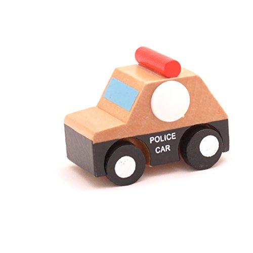 Mini Wooden Car Police Car,T00077 - 1