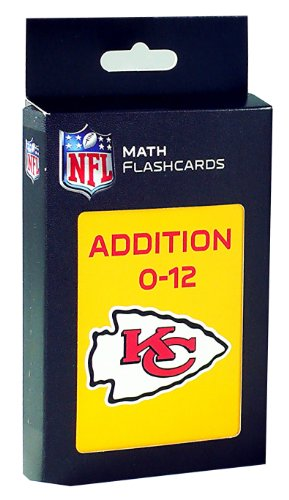 NFL Kansas City Chiefs Addition Flash Cards - 1