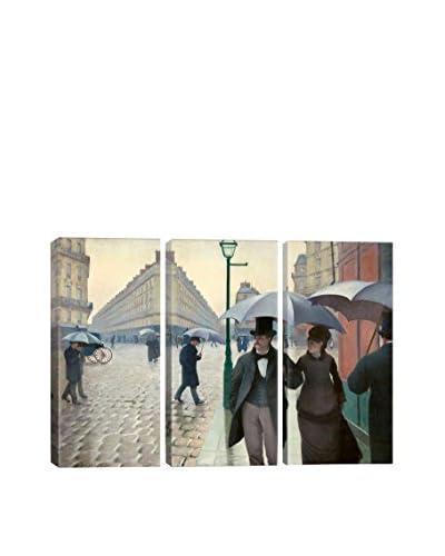 Gustave Caillebotte Paris Street: A Rainy Day 3-Piece Canvas Print