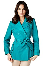 Per Una Shower Resistant Notch Lapel Belted Trench Mac with Stormwear™