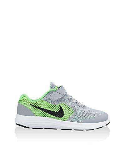 Nike Zapatillas Revolution 3 (Psv) Gris / Verde Flúor / Negro